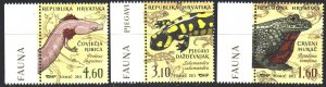 Croatia. 2013. 1073-75. Frogs, amphibians. MNH.