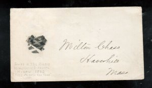 USA #73c Used Bisect On Cover To MASS **With Certificate**