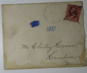 US Sc#219D Lake Used On Cover 1890 Hamline MN
