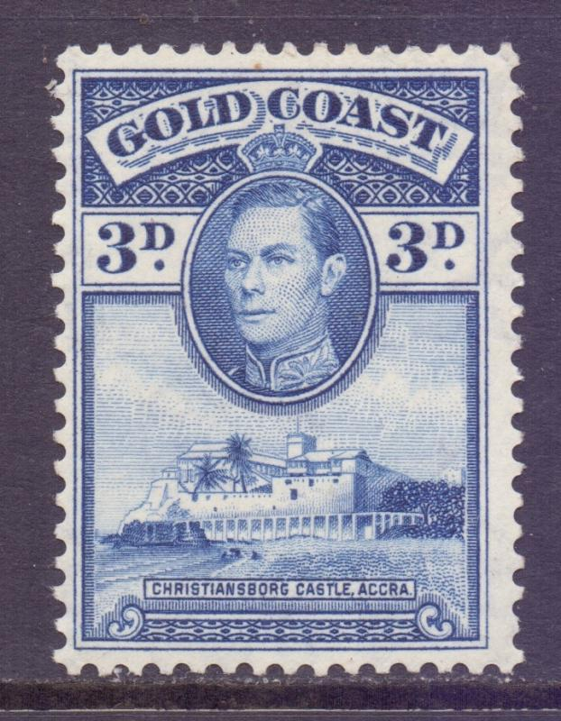 Gold Coast Scott 119 - SG124a, 1938 George VI 3d MH*