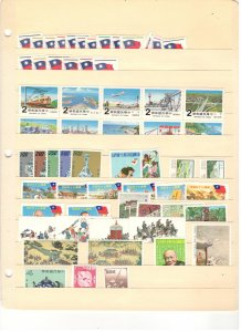 CHINA COLLECTION ON STOCK SHEET, MINT/USED
