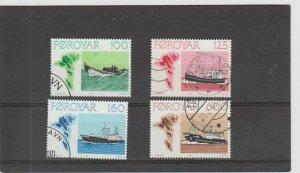 Faroe Islands  Scott#  24-27  Used  (1977 Fishing Vessels)
