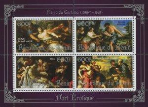 Erotic Art Paintings Pietro da Cortona Souvenir Sheet of 4 Stamps Mint NH