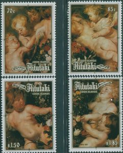Aitutaki MNH 408-11 Christmas 1987