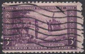 United States, Scott # 739,  Used