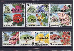 Montserrat, O10-9, Overprinted Official Singles, * CTO- MNH*