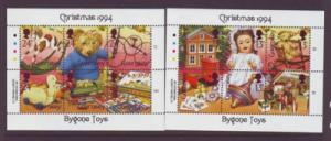 Guernsey Sc 541-2 1994  Christmas old toys stamp sheets mint NH