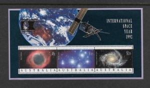 SPACE - AUSTRALIA #1260b WORLD COLUMBIA STAMP EXPO GOLD IMPRINT  MNH