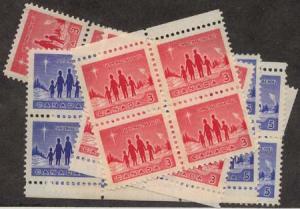 Canada USC #434p-435p Mint (12 sets) Inc. Blocks - Winnipeg Tagged