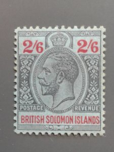 Solomon Islands 38 F-VF MHR. Scott $ 11.00