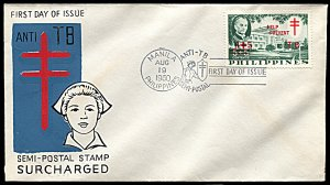 Philippines B16, FDC, Surcharged Anti-TB Issue