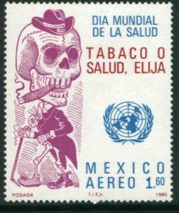 MEXICO C635, FIGHT AGAINS TOBACCO SMOKING. MINT, NH. VF.