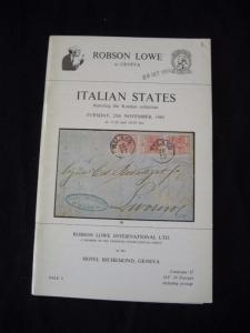 ROBSON LOWE AUCTION CATALOGUE 1980 ITALIAN STATES 'KOTZIAN' COLLECTION
