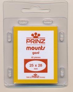 Prinz Scott Stamp Mounts Size 25/28 BLACK Background Pack of 40