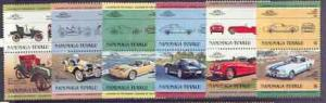 Tuvalu - Nanumaga 1984 Cars #1 (Leaders of the World) set...