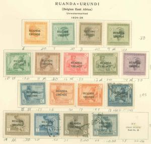 Ruanda Urundi 6-22 Mint VF H