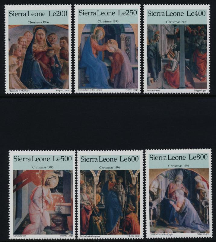 Sierra Leone 1926-33 MNH Christmas, Art, Paintings