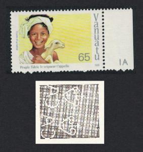 Vanuatu Christmas Carols 1v 65vatu Watermark variety SG#517w