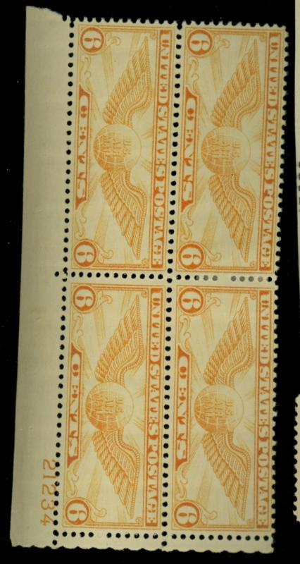 C19 MINT Plate Block F-VF OG HR Cat$14