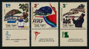 Israel 1315-7 + tabs MNH Music & Dance, Choirs, Musical Instruments