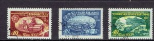 RUSSIA - 1958 PIONEERS OF RUSSIAN INDUSTRY - SCOTT 2116 TO 2118 - USED