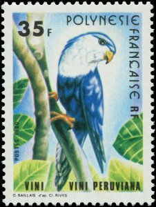French Polynesia 1980 Sc 338 Bird TItmouse Henparrot