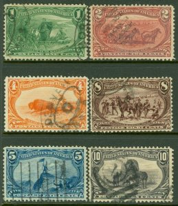 EDW1949SELL : USA 1898 Scott #285-90 VF, Used. Scarce this nice. Catalog $147.00