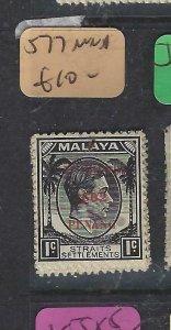 MALAYA JAPANESE OCC  PENANG (P2404B) DN   1C  SG J77        MNH
