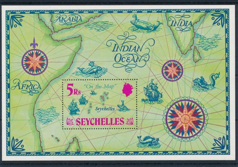 [49008] Seychelles 1971 Marine life Fish Boats Map MNH Sheet