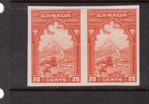 Canada #E3a XF/NH Imperf Pair