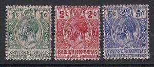 British Honduras, Sc 85-87 (SG 111-113), MLH