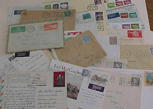 IRELAND  35 COVERS  PICTORIAL CANCELS 1951-2000's MOSTLY TO USA