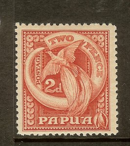 Papua, Scott #97, 2p Bird of Paradise and Boars Tusk, MH