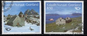 Greenland Sc 259-60 1993 Tourism stamp set used