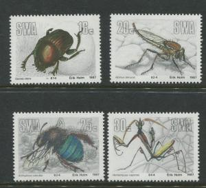 South West Africa - Scott 582-585 - Insects Issue -1987 - MNH- Set of 4 Stamps