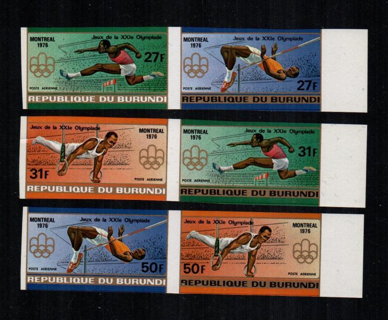 Burundi  C237 - 239 imperf +    MNH cat $ 18.00 aaa