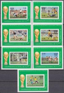 1978 Sao Tome and Principe B18b-B24b 1978 FIFA World Cup in Argentina 60,00 €