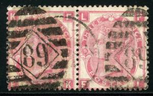 GREAT BRITAIN QUEEN VICTORIA SCOTT# 49 PLATE 9 USED PAIR AS SHOWN