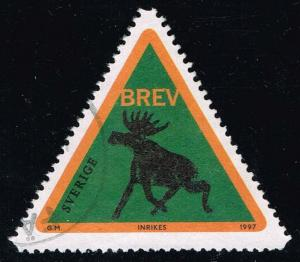 Sweden #2243 Forest Elk - Green; Used (1.00)