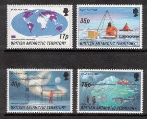 BRITISH ANTARCTIC 1996 Antarctic Research; Scott 235-39, SG 260-64; MNH