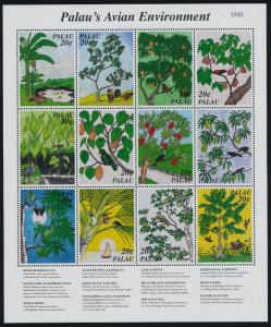 Palau 426 MNH Native Birds, Trees, Fruit