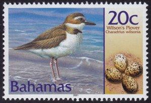 Bahamas - 2001 - Scott #1010 - MNH - Bird Wilson's Plover