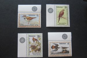 Bahamas Sc 576-579 Birds (Traffic) Set MNH