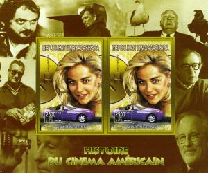 Madagascar 1999 American Cinema SHARON STONE PORSCHE s/s Imperforated Mint (NH)