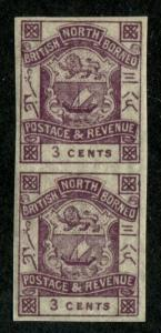 North Borneo SC# 38 Coat of Arms imperf pair 3c MH/MNH
