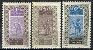 Heut Senegal-Niger 1914, 1-4c Camel rider MNH, Yv 18-20