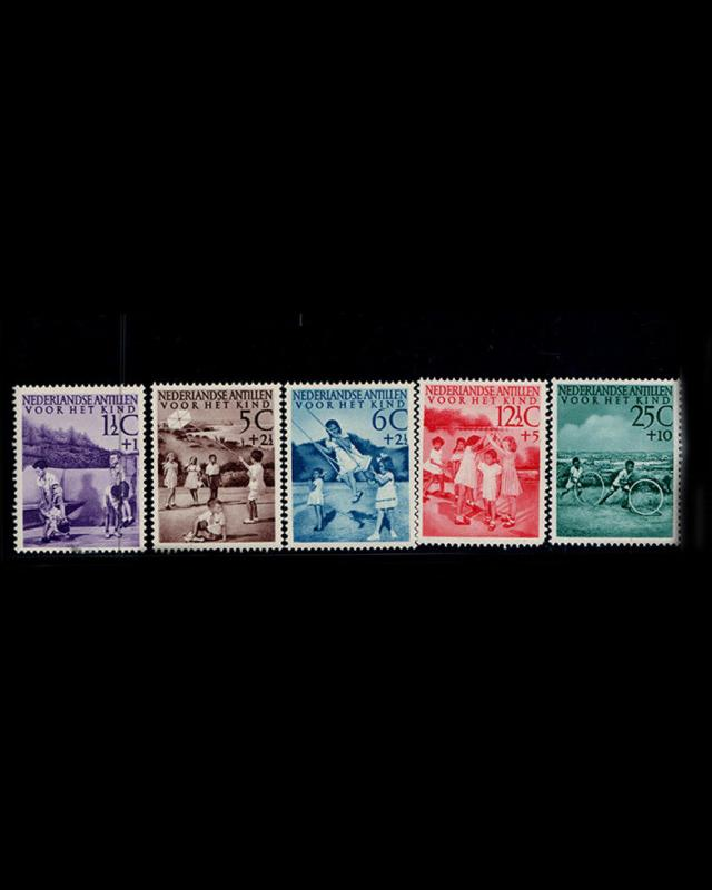 VINTAGE: NETHERLANDS 1951 OG,NH,POF SCOTT # B10-14 $ 41.75 LOT # VSACUR1951A