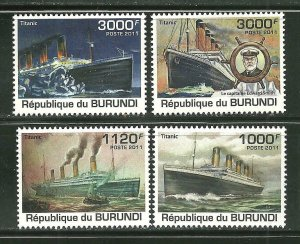 Burundi MNH 1106-9 Titanic 2011 SCV 12.50