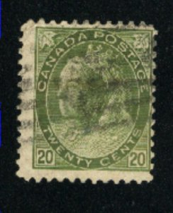 Canada #84  used  VF 1900   PD