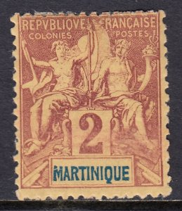 Martinique - Scott #34 - MH - SCV $1.75